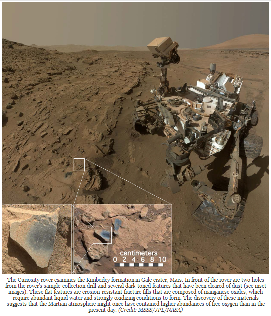 The Curiosity rover-gale crater, mars