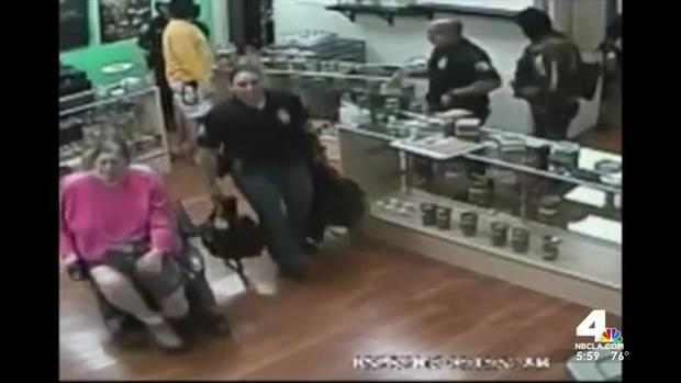 Image: Cops raid legal dispensary, eat marijuana edibles, joke about kicking amputee …and it's all on video
