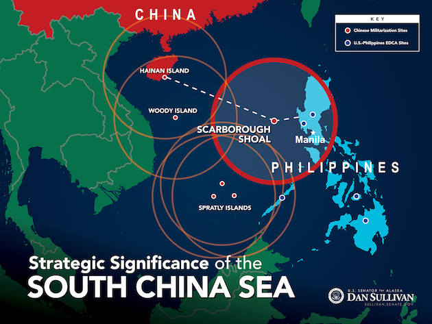 South China Sea Map Sullivan