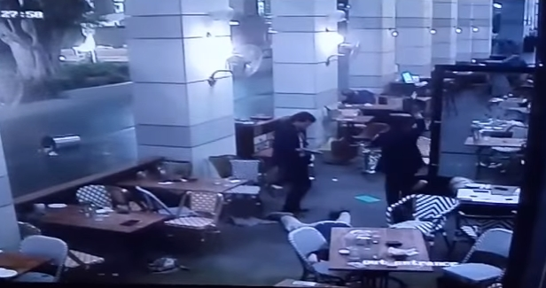 Image: GRAPHIC VIDEO: The Moment Two Palestinian Terrorists Open Fire on Unsuspecting Diners in Tel Aviv