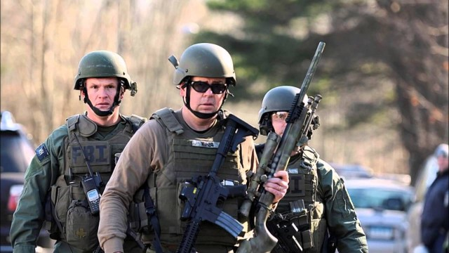 Sandy Hook was theater! Actor who played law enforcement sniper was recorded walking around carrying rifle by the magazine
