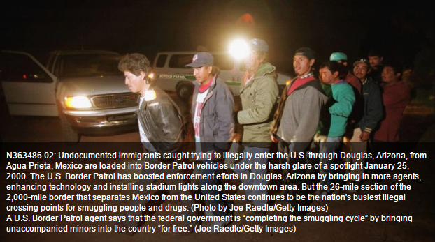 Image: Obama regime complicit in the human trafficking of illegals into the USA