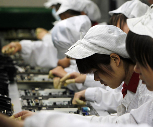 Image: Machines making machines will be the workforce of the future: iPhone and Samsung assembler replaces 60K employees with robots