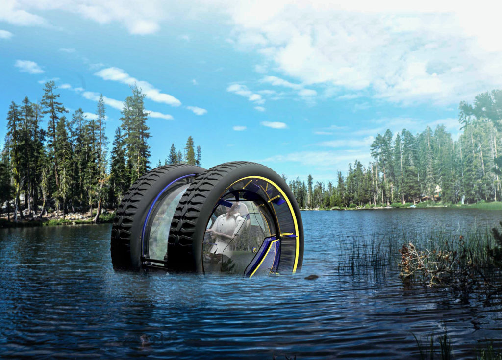 Image: The perfect off-the-grid vehicle has two wheels and can drive underwater