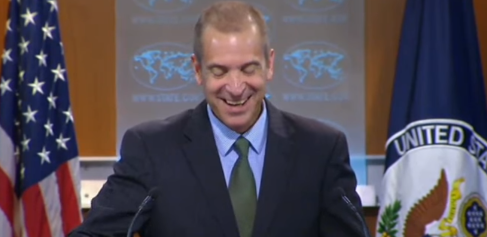 "Image: VIDEO: Government official bursts into laughter after claiming ""transparency"""