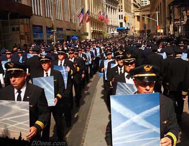 Image: Superimposed 'chemtrail protest' image inspires activists to speak out on geo-engineering