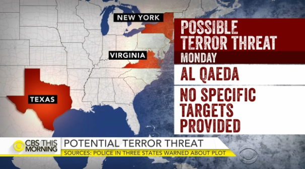 Image: Sources: U.S. intel warning of possible al Qaeda attacks in U.S. Monday