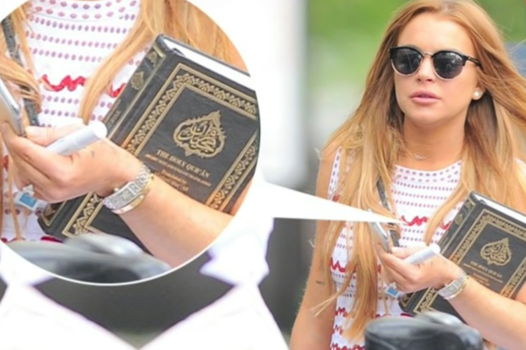 Image: Has Lindsay Lohan converted to Islam?