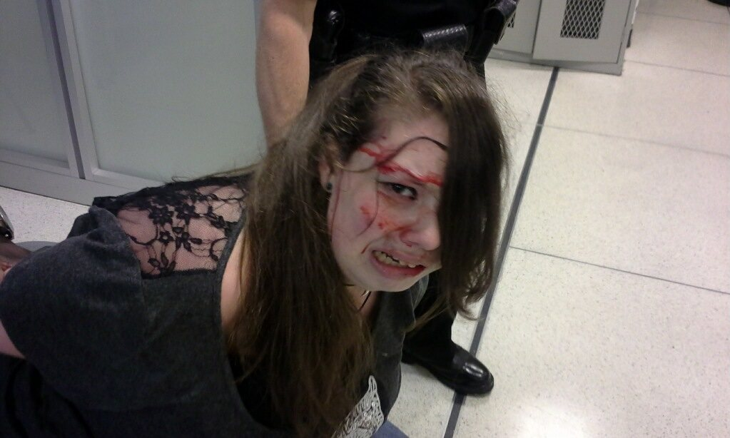 Undeniable tyranny: TSA beats a blind, deaf teenage girl to a bloody pulp while claiming to protect us all from terrorists