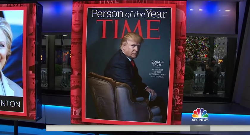 Image: Trump named TIME's person of the year for 2016