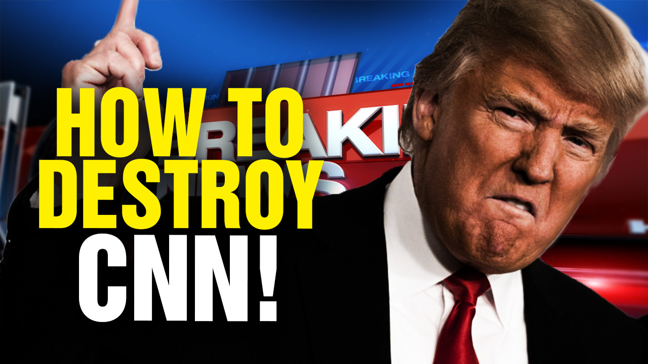 "Image: The Health Ranger reveals to President Trump how to ""take out CNN"" with a single signature"