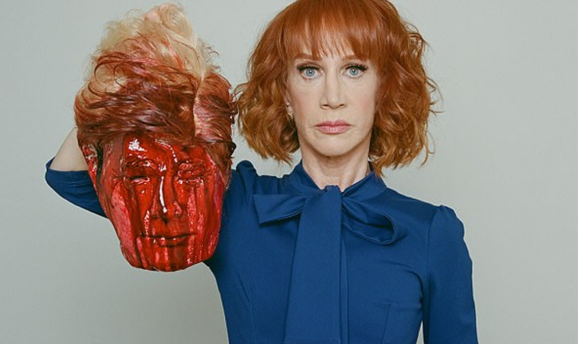 Kathy Griffin sums up the deranged, violent, lunatic Left with video of the bloody, decapitated head of President Trump