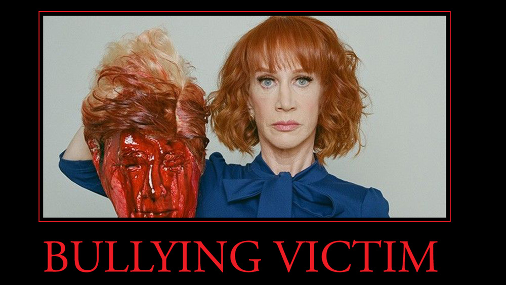 "Kathy Griffin's message for all Democrats: ""We're with ISIS, and we promote beheadings of political opponents"" instead of honoring election outcomes"