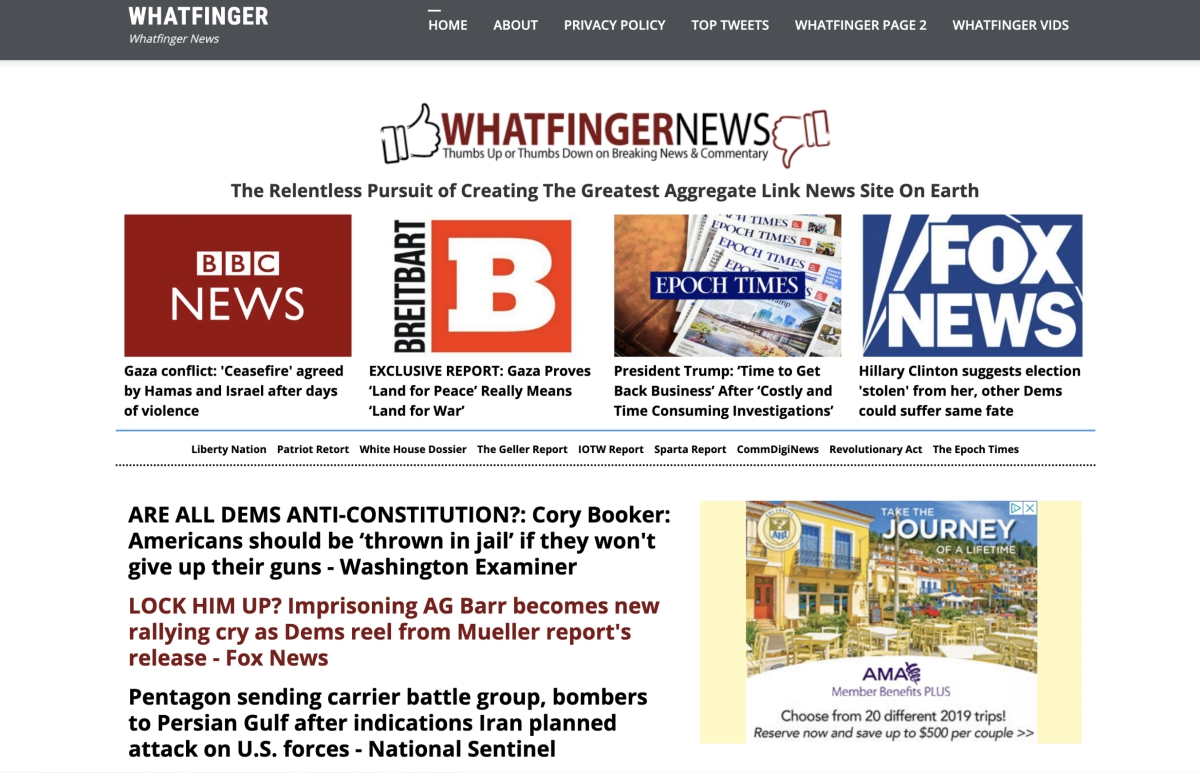 Is Whatfinger News replacing the Drudge Report? News aggregate site is better maintained, faster, and contains more independent news links
