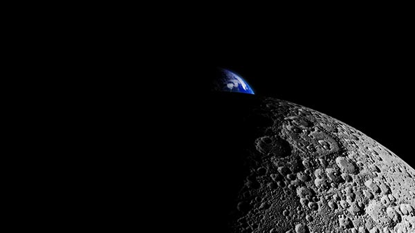 What did China's moon lander see on the far side of the moon?