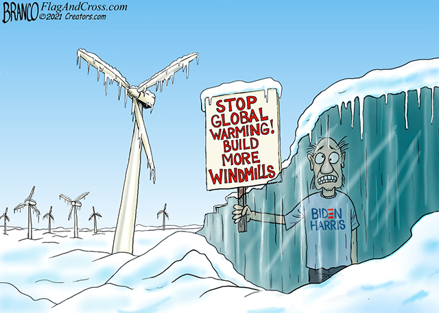 """Texas Republicans cited """"global warming"""" as the reason why they decided not to winterize the power grid"""