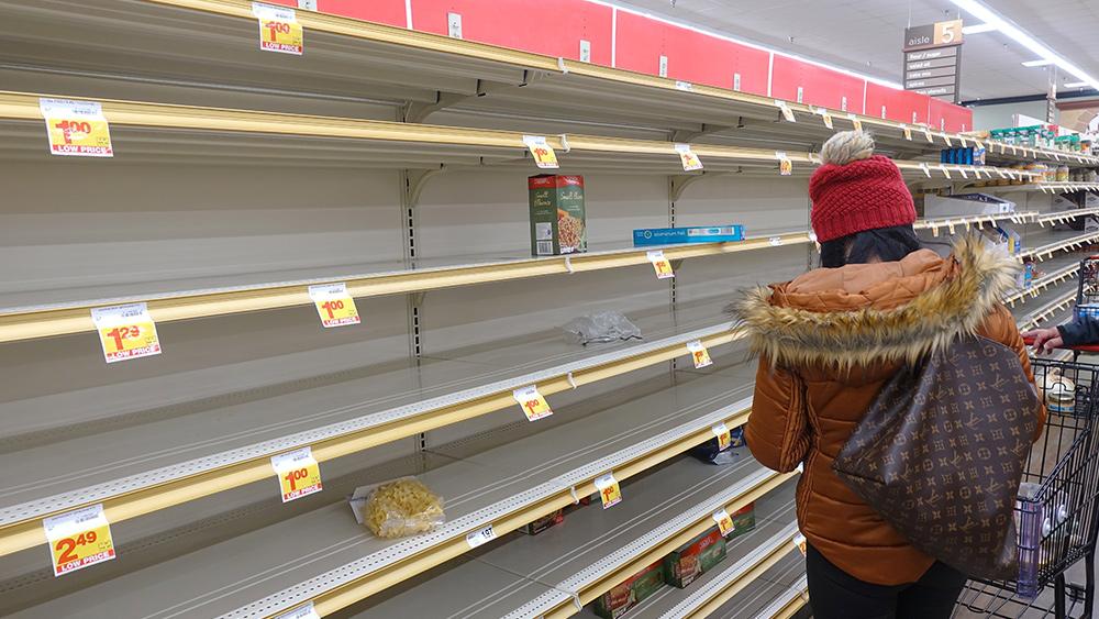 Supply chain woes worsen as prices soar, shelves run bare Coronavirus-Empty-Short-Shelves-Woman-Shop